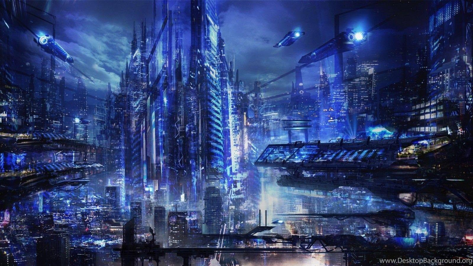 Download Blue Sci Fi Wallpapers 6809 1600x900 Px High Resolution