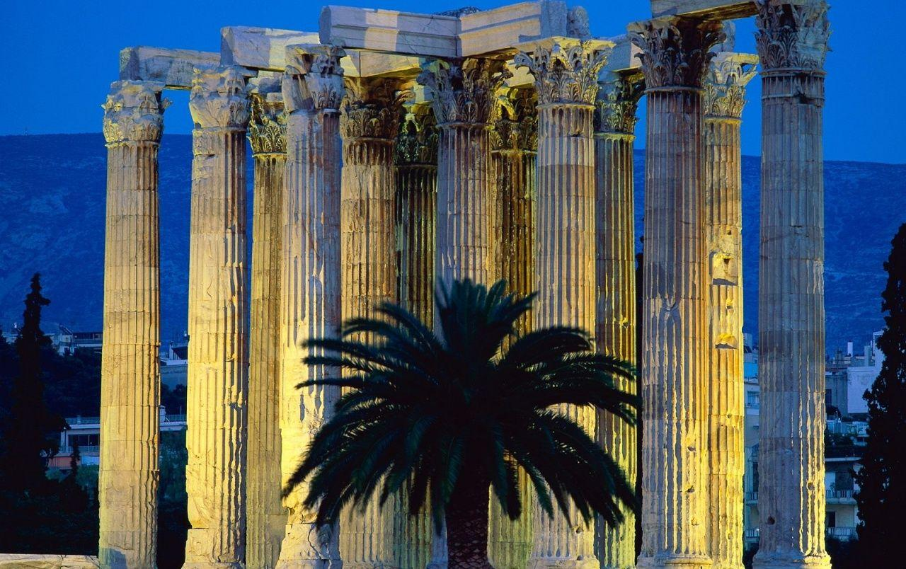 Temple of Olympian Zeus - Athens, Greece wallpapers | Temple of ...