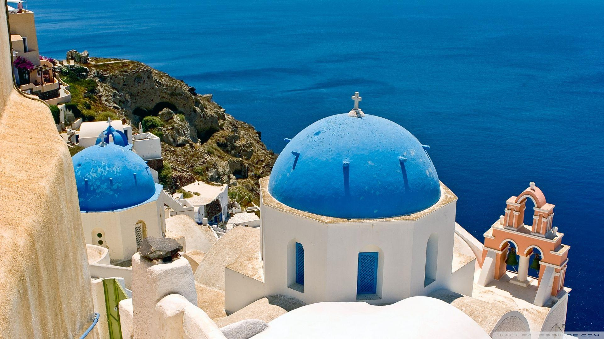 Download Oia Santorini Greece Wallpapers 1920x1080