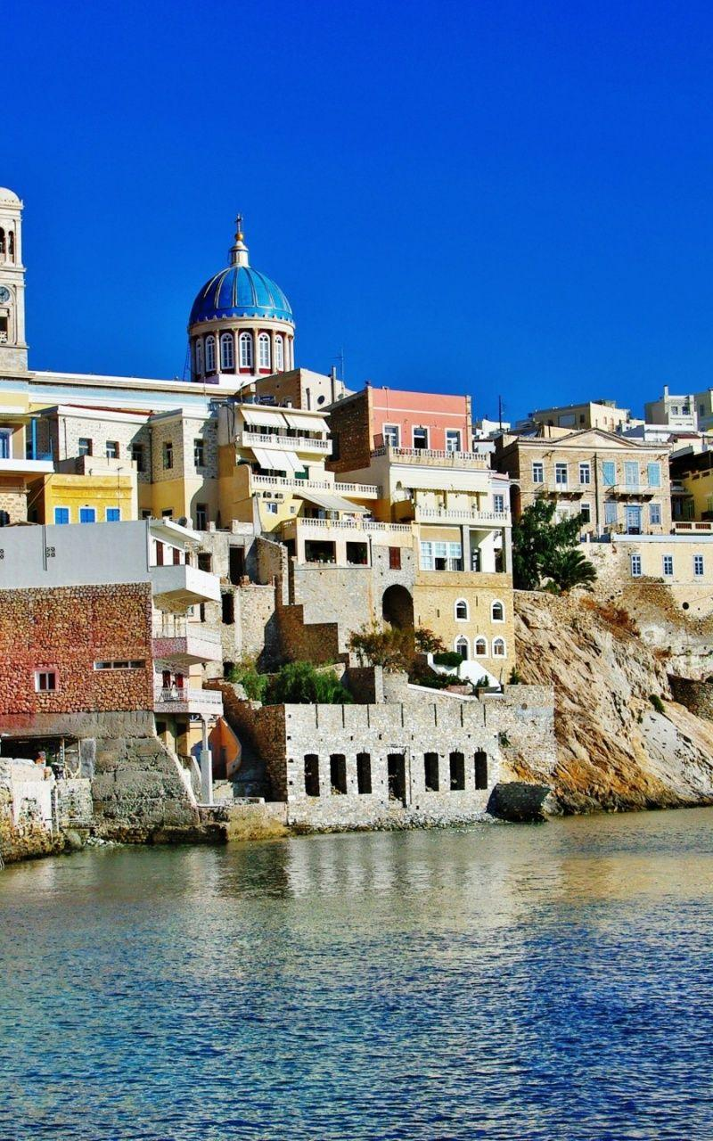 800x1280 Syros Island Greece desktop PC and Mac wallpapers