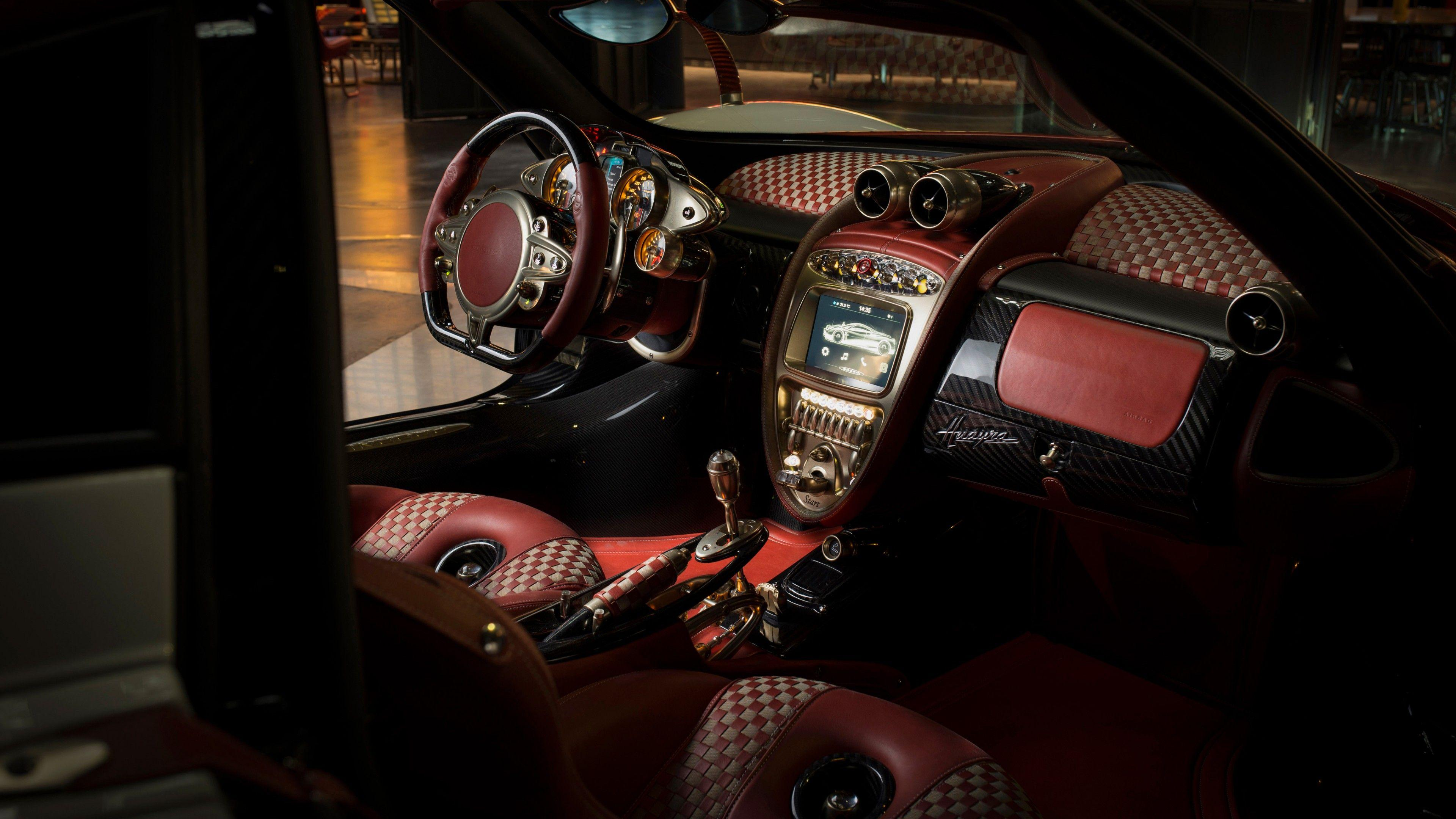 Wallpapers Pagani Huayra Lampo, interior, 4k, Cars & Bikes