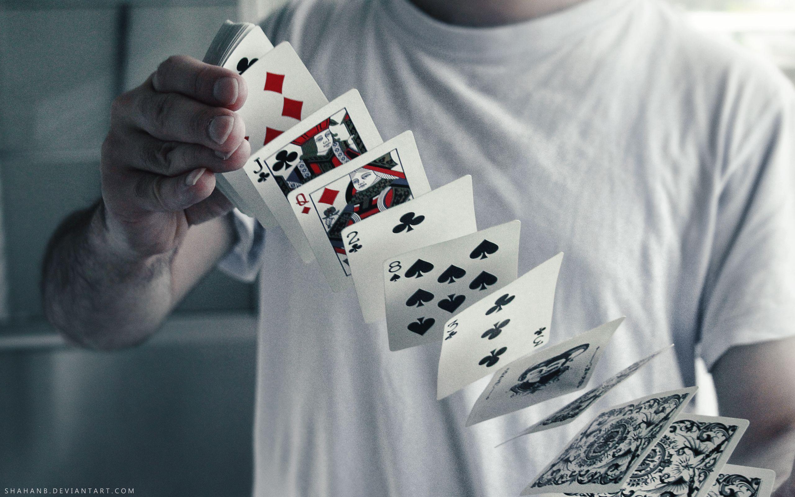Black ice hardcore playing cards
