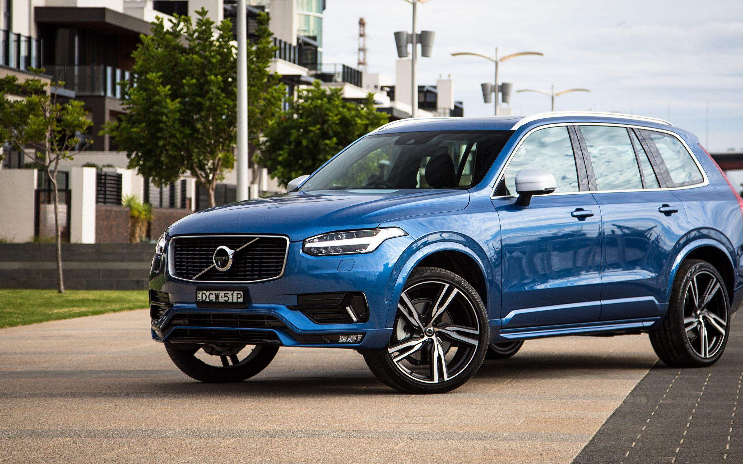 Wallpapers Volvo Crossover XC90 Blue Cars Metallic 2560x1600