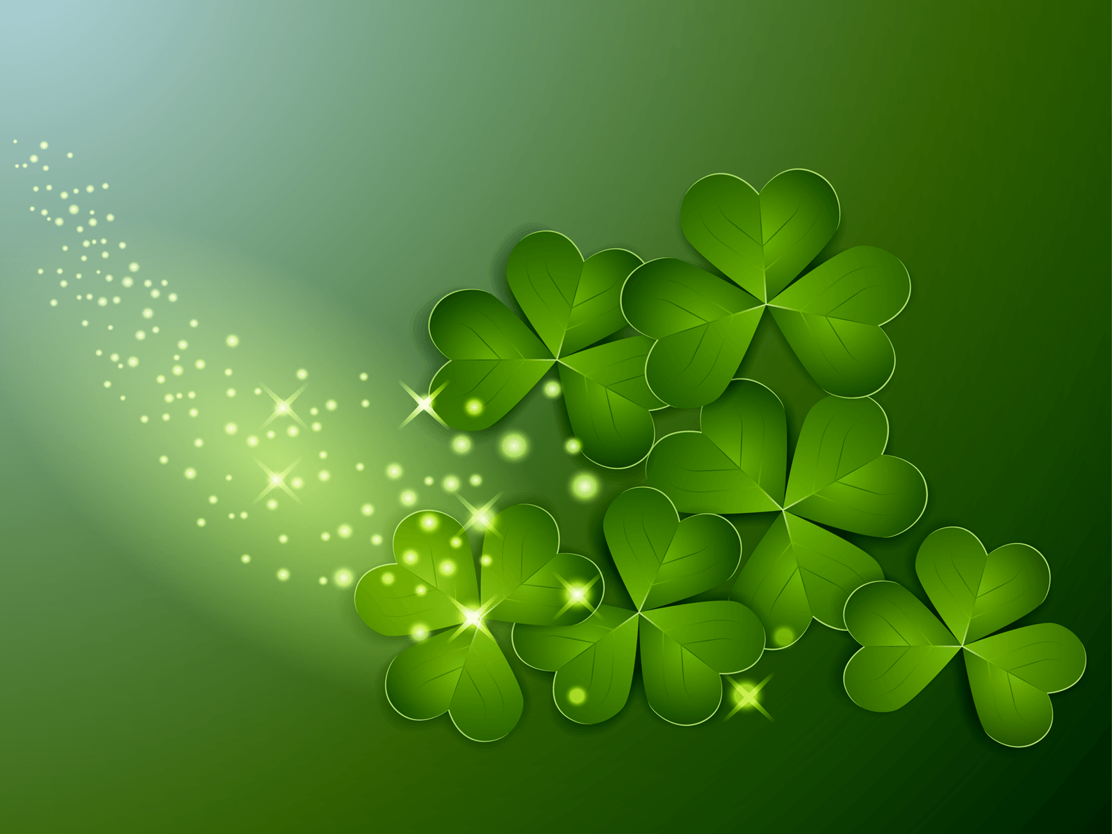 St Patricks Day Clover Wallpaper | Gallery Yopriceville - High ...
