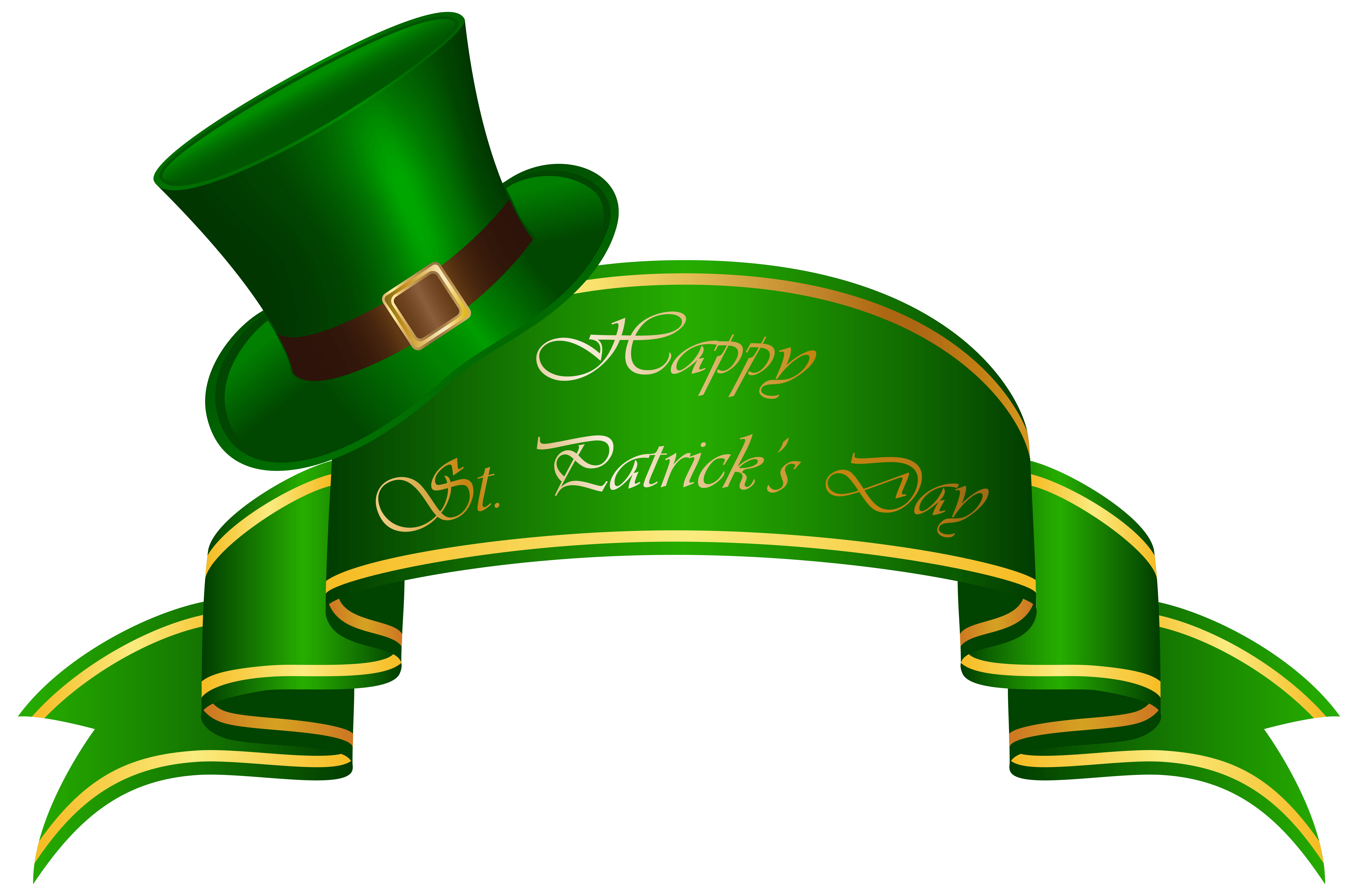 St Patricks Day Banner and Hat Transparent PNG Clip Art Image ...