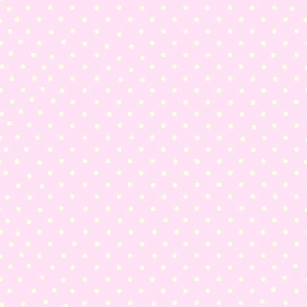 pink wallpaper with white spots