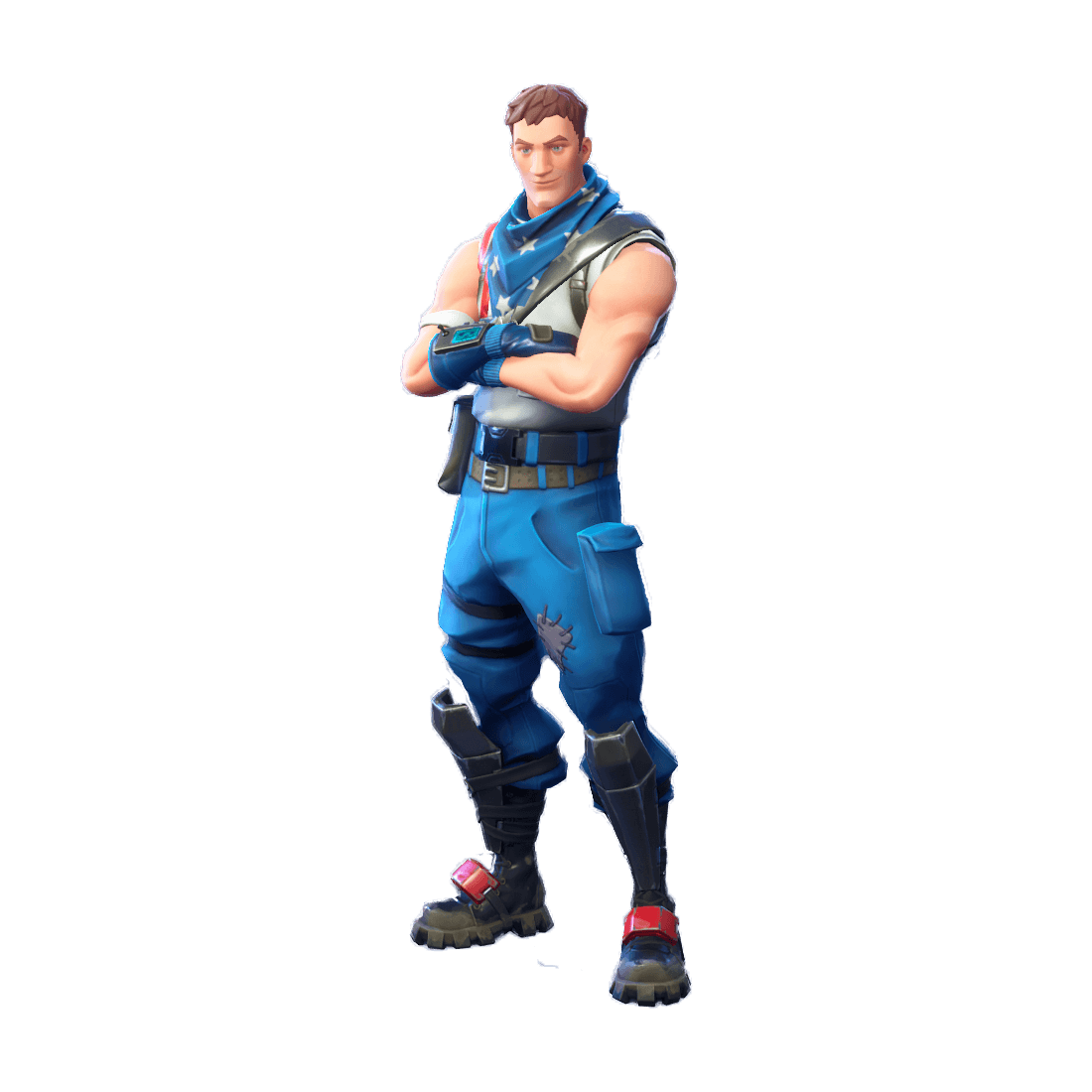Uncommon Star-Spangled Trooper Outfit Fortnite Cosmetic Cost 800 V ...