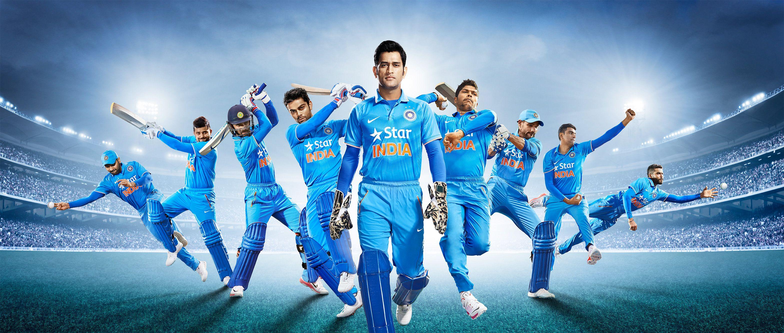 Wallpapers Team India, National cricket team, Indian Cricket Team, MS