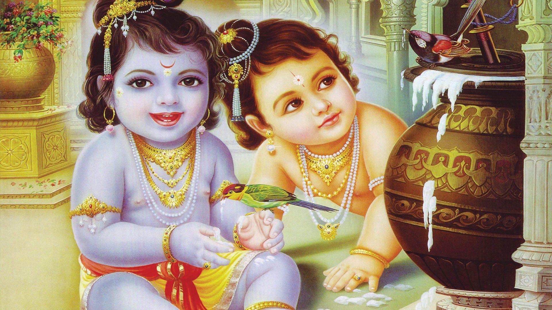 Little Krishna Wallpapers Wallpaper Cave