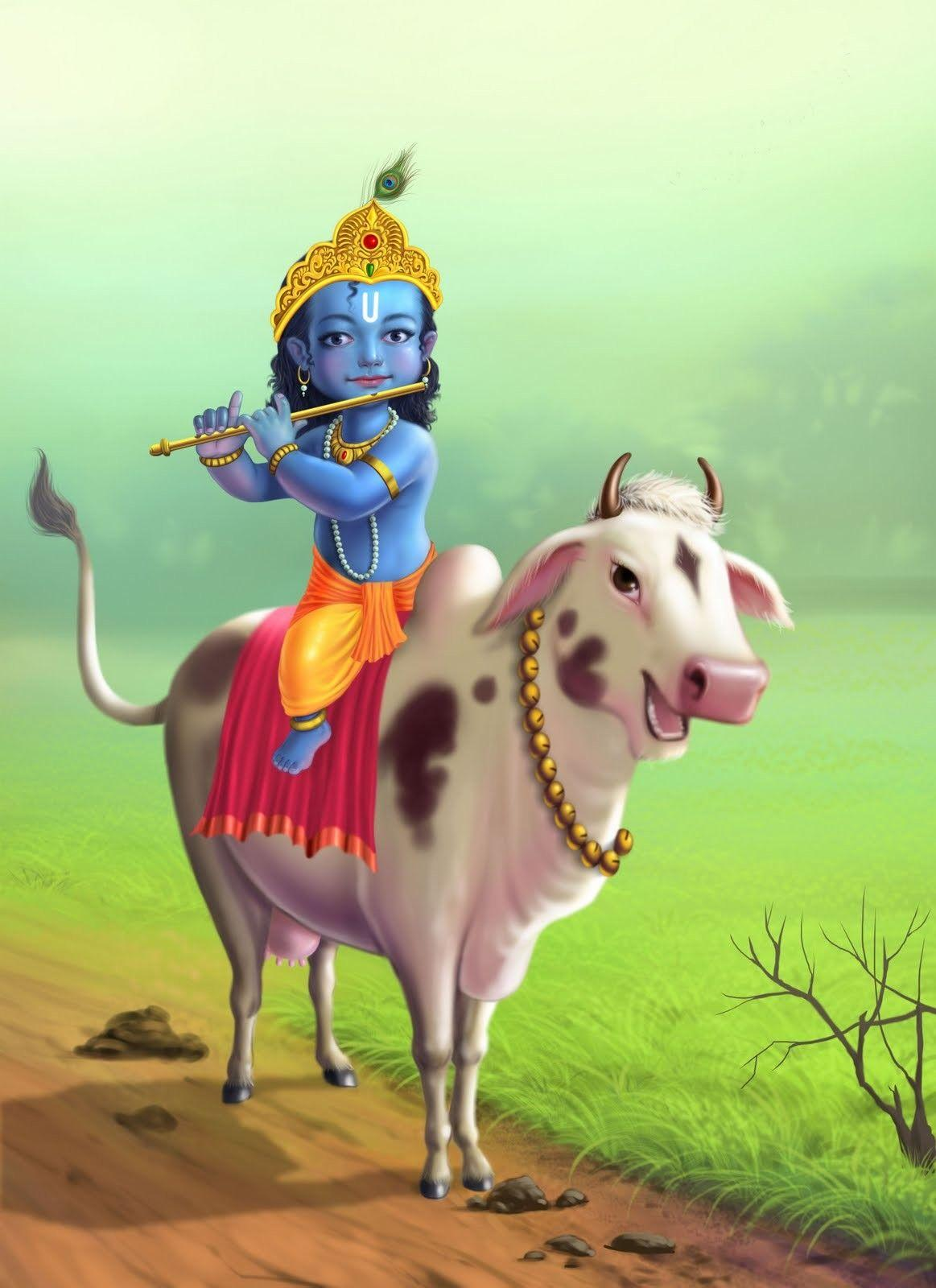 Little Krishna Wallpapers Wallpaper Cave