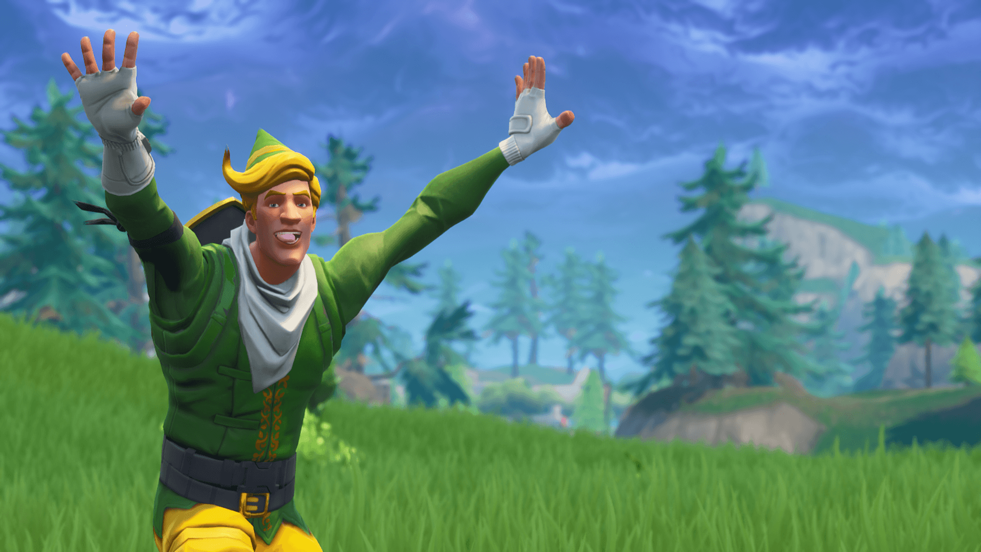 just got a new desktop background fortnitebr - fortnite codename elf skin