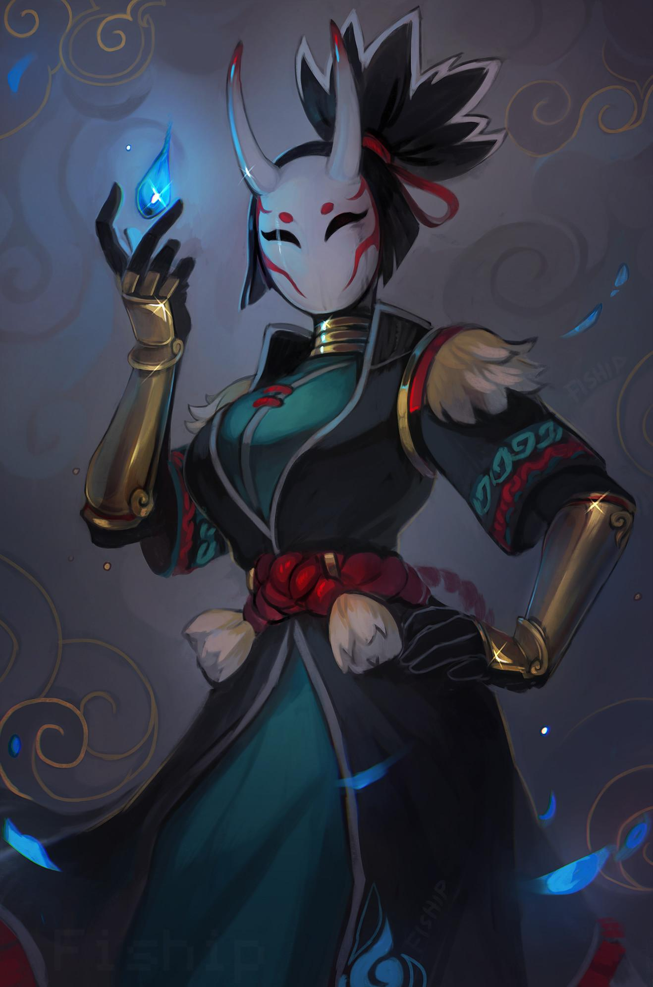 Wallpaper Nara Skin Fortnite Battle Royale - Art by Matilda Fiship ...