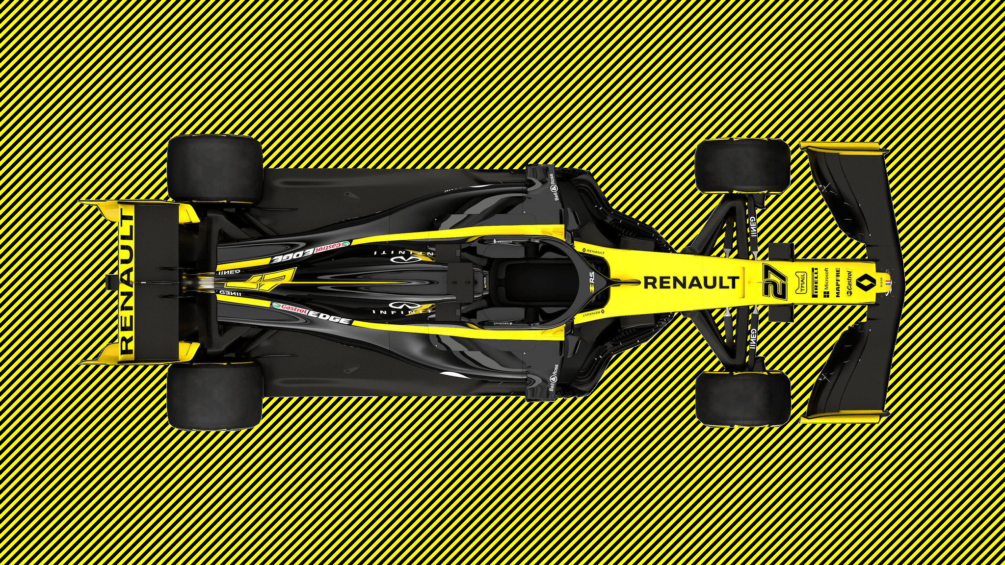 Quick edit of Renault R.S. 19 for a wallpapers