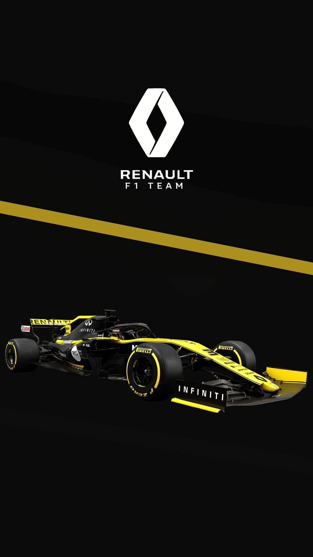 Renault 2019 phone wallpapers I made : formula1