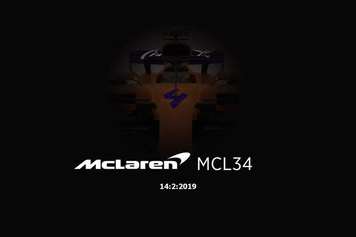 McLaren The image of the diffuse MCL 34 is not a spill but fake