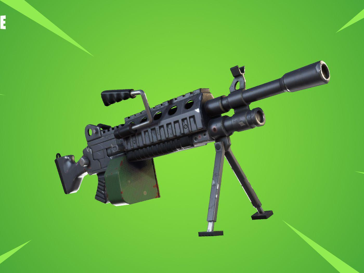 Fortnite update adds LMGs and fixes 'dick bullets'