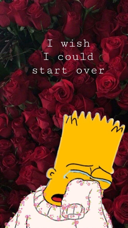Aesthetic Sad Bart Simpson Wallpapers Wallpaper Cave