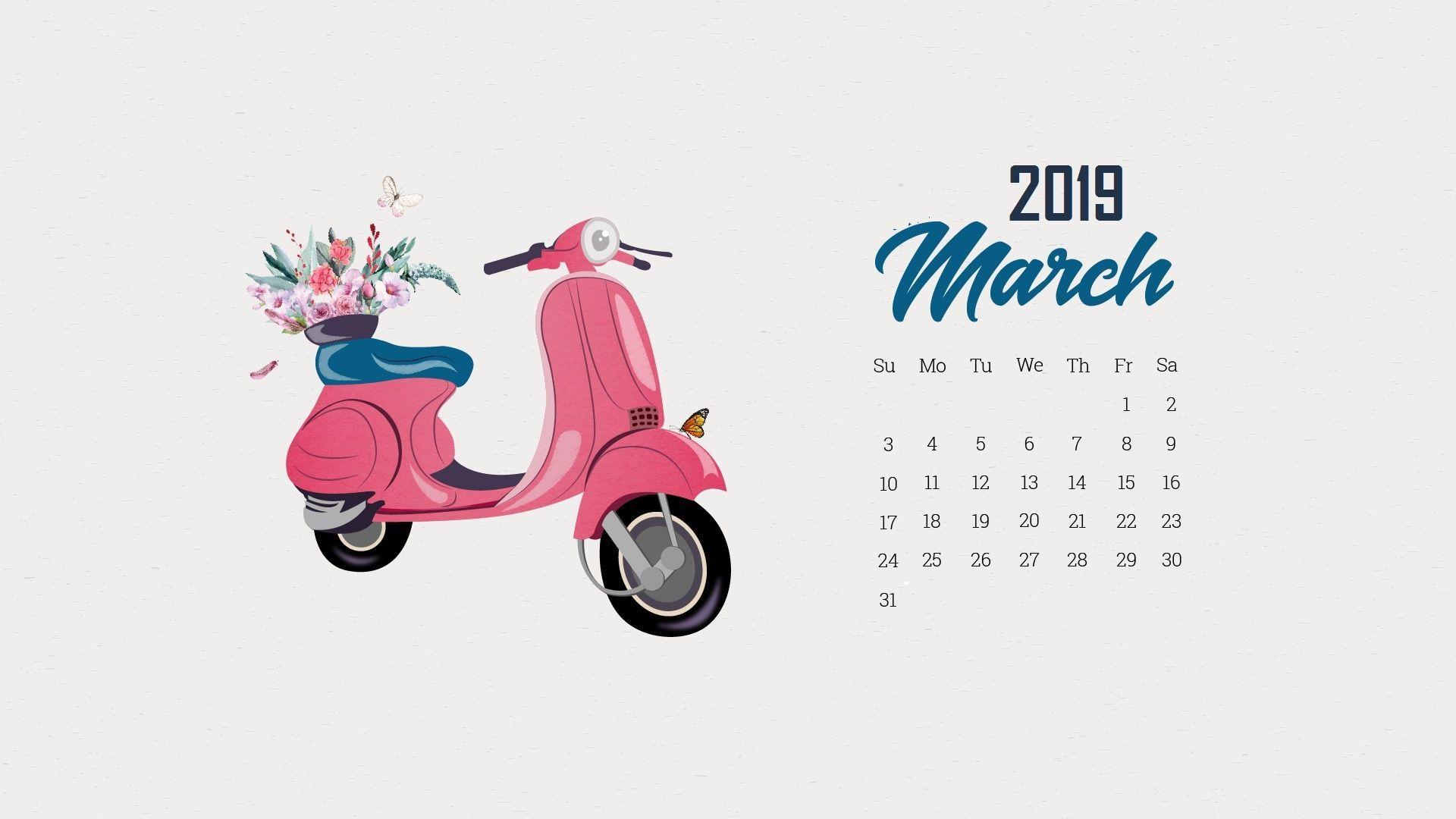 march 2019 calendar wallpaper iphone
