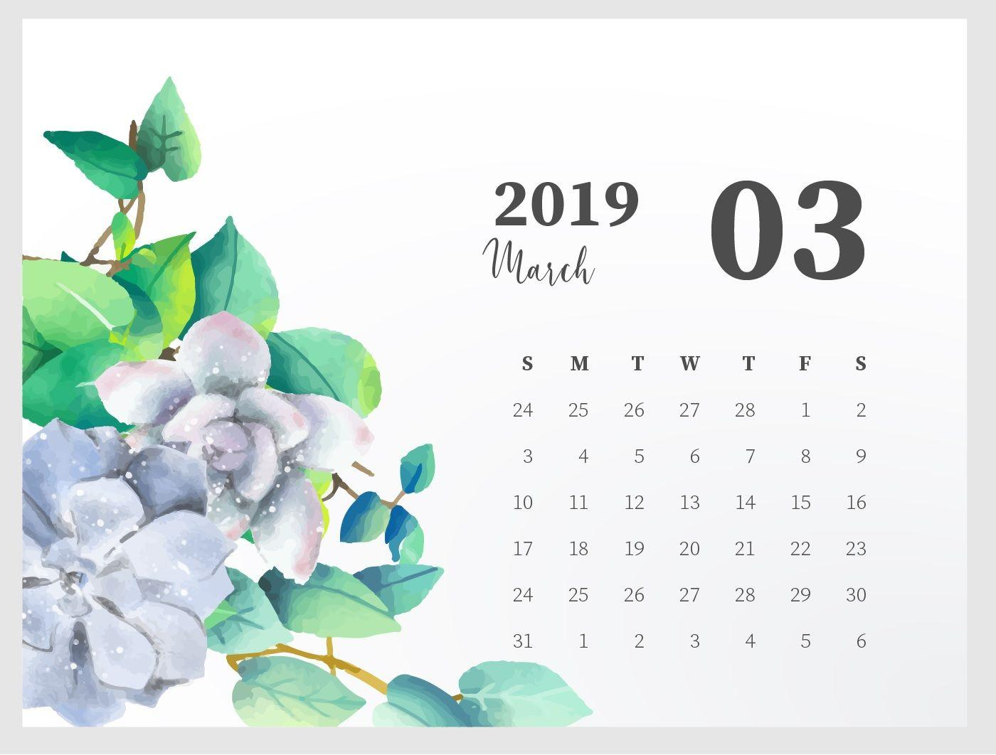 March 2019 Calendar Wallpapers Wallpaper Cave