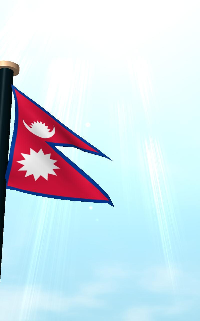 Nepal Flag 3D Free Wallpapers