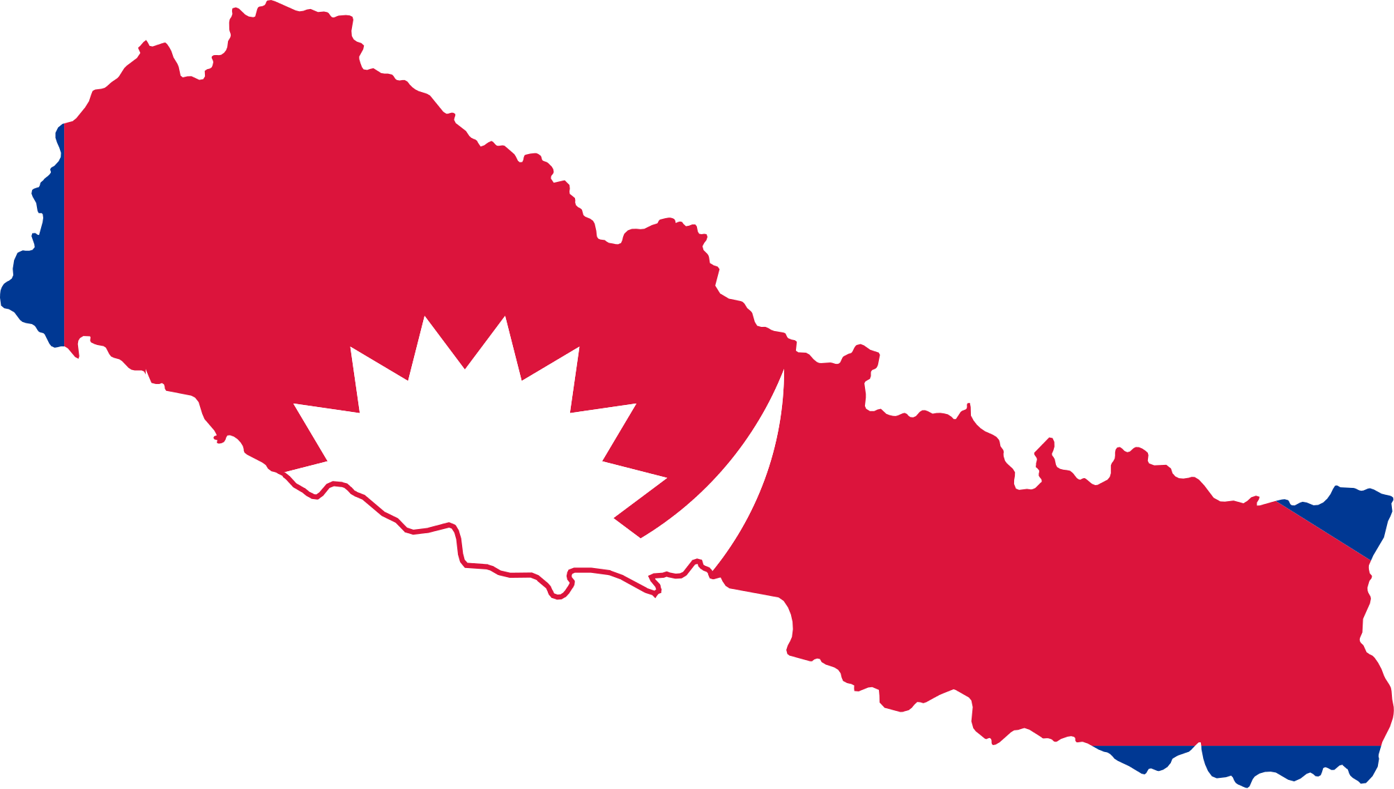 Nepal Map With Flag