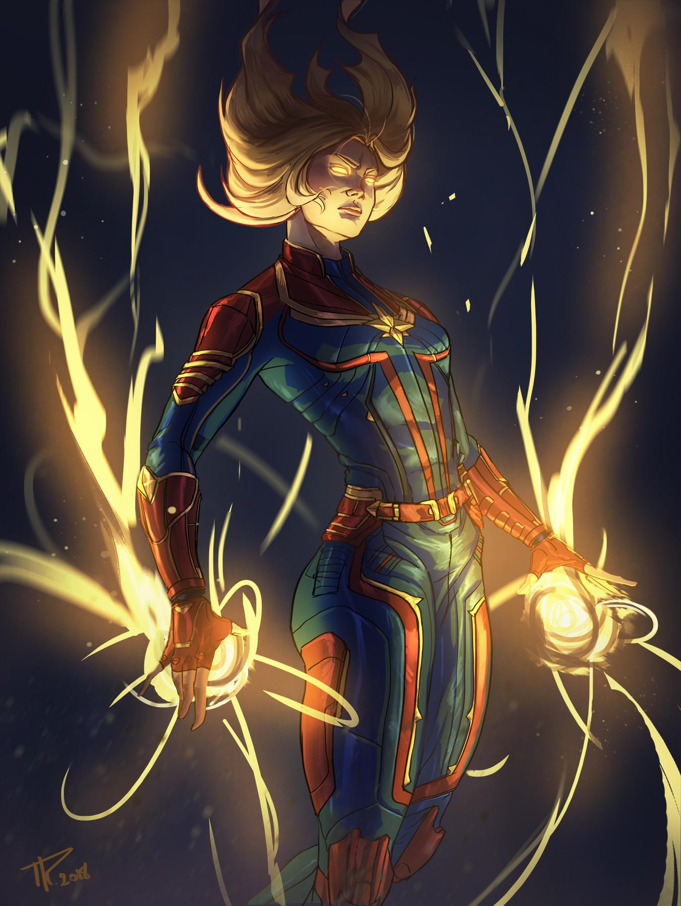 Captain Marvel Phone Wallpapers Wallpaper Cave