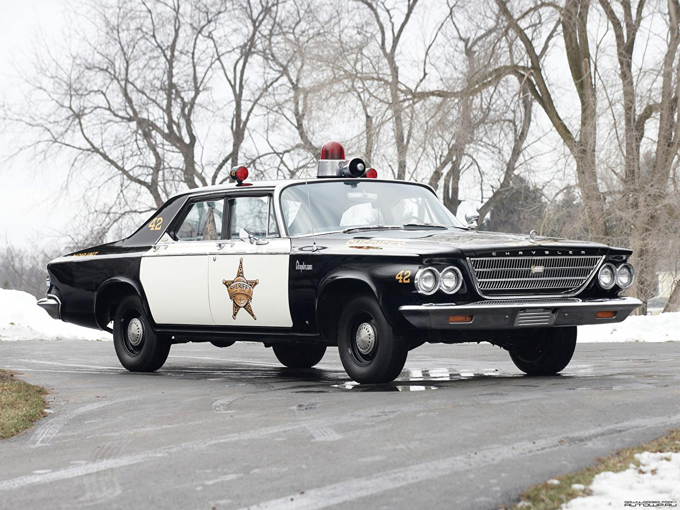 Wallpapers Chrysler Newport Police Cruiser 1963 automobile
