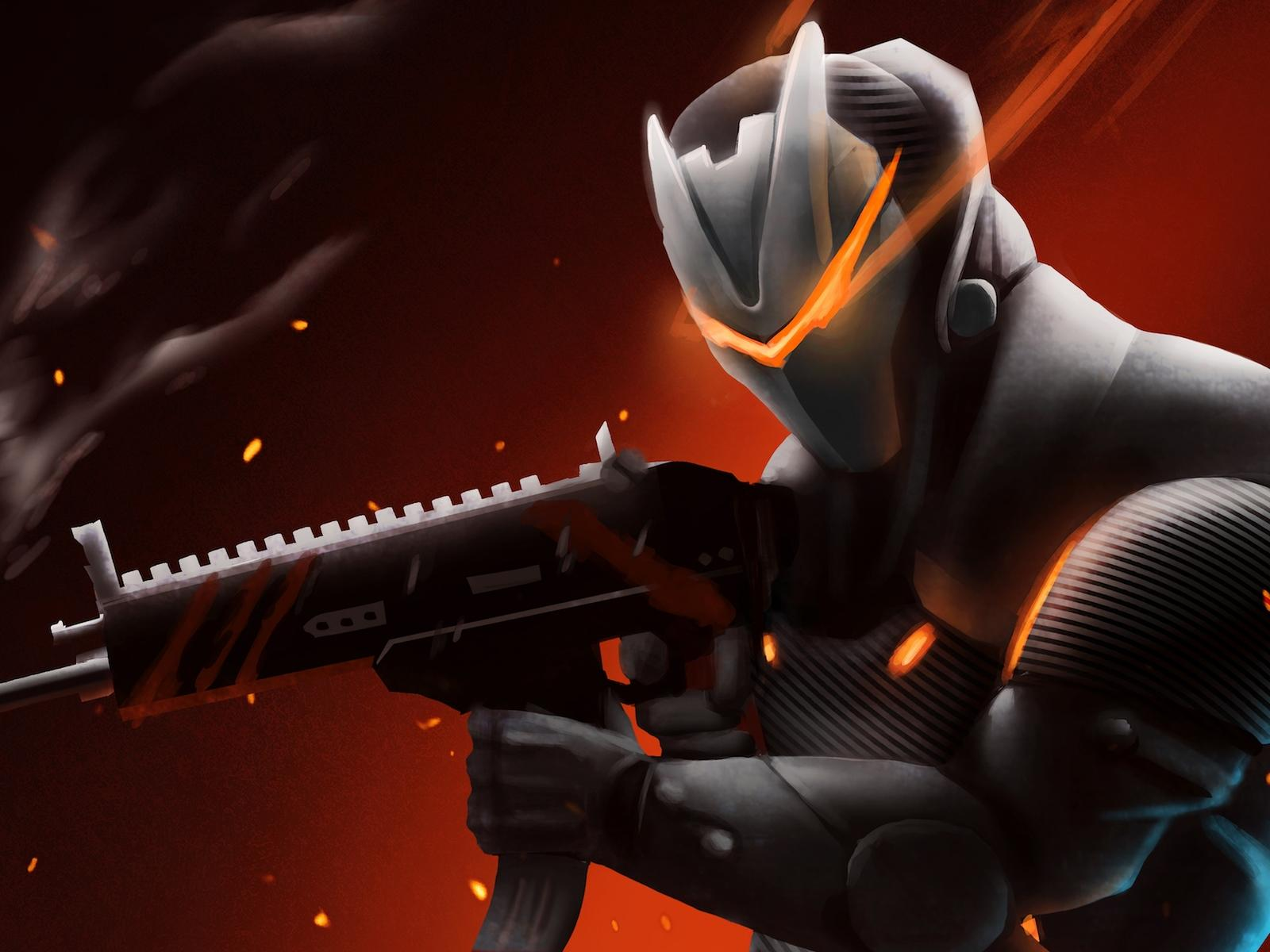 1600x1200 Omega With Rifle Fortnite Battle Royale 1600x1200 ...