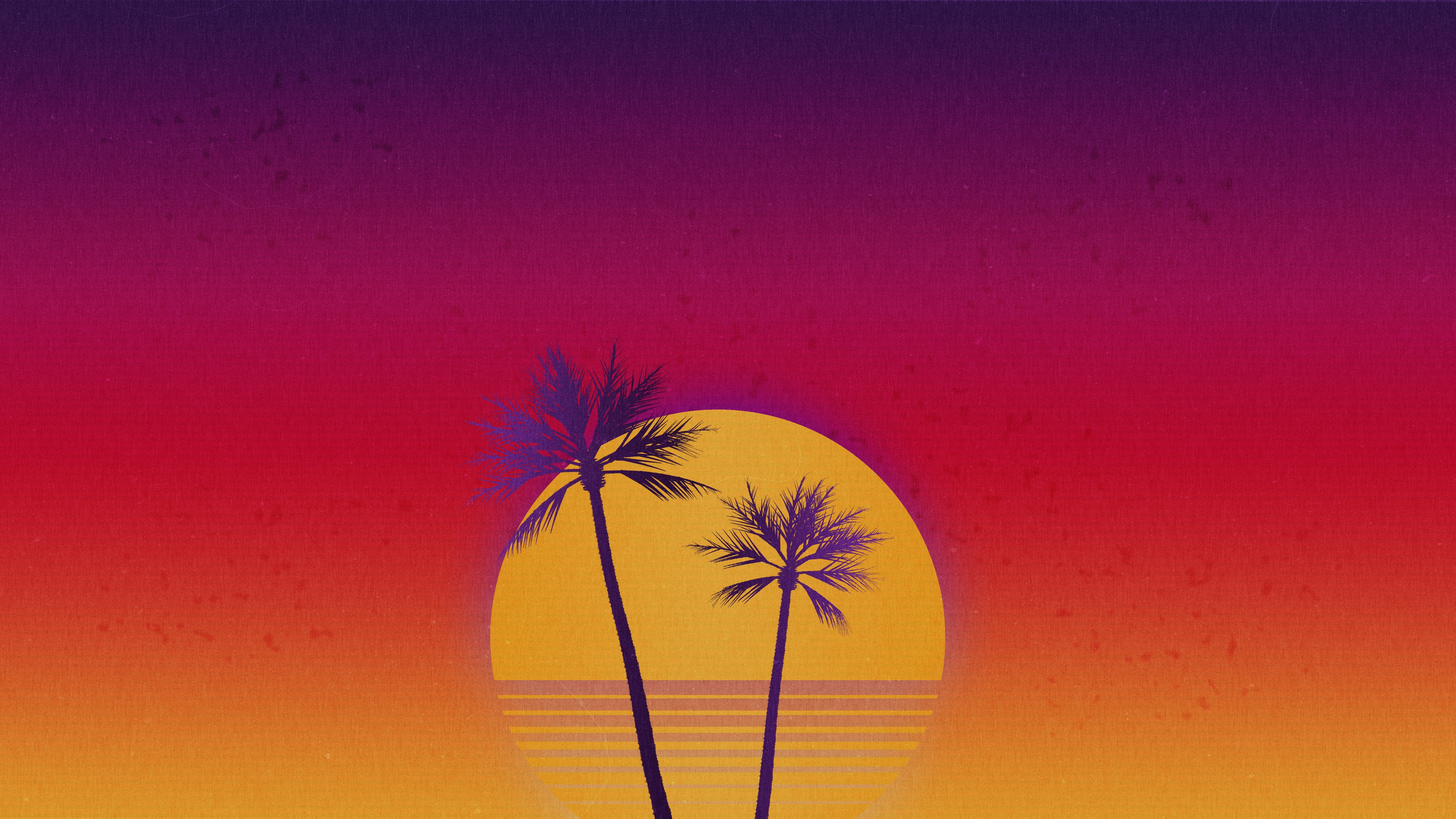 Outrun Sunset Wallpapers Wallpaper Cave