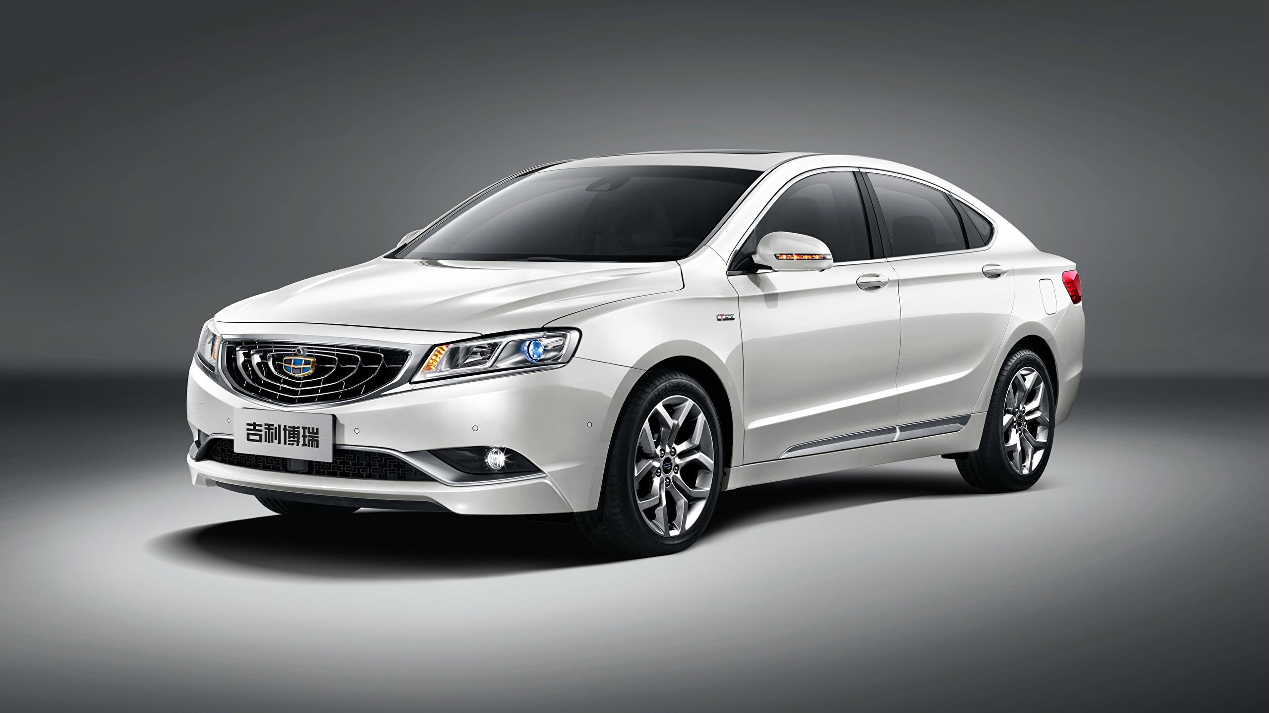 Pictures 2015 Geely GC9 White Cars 2560x1440