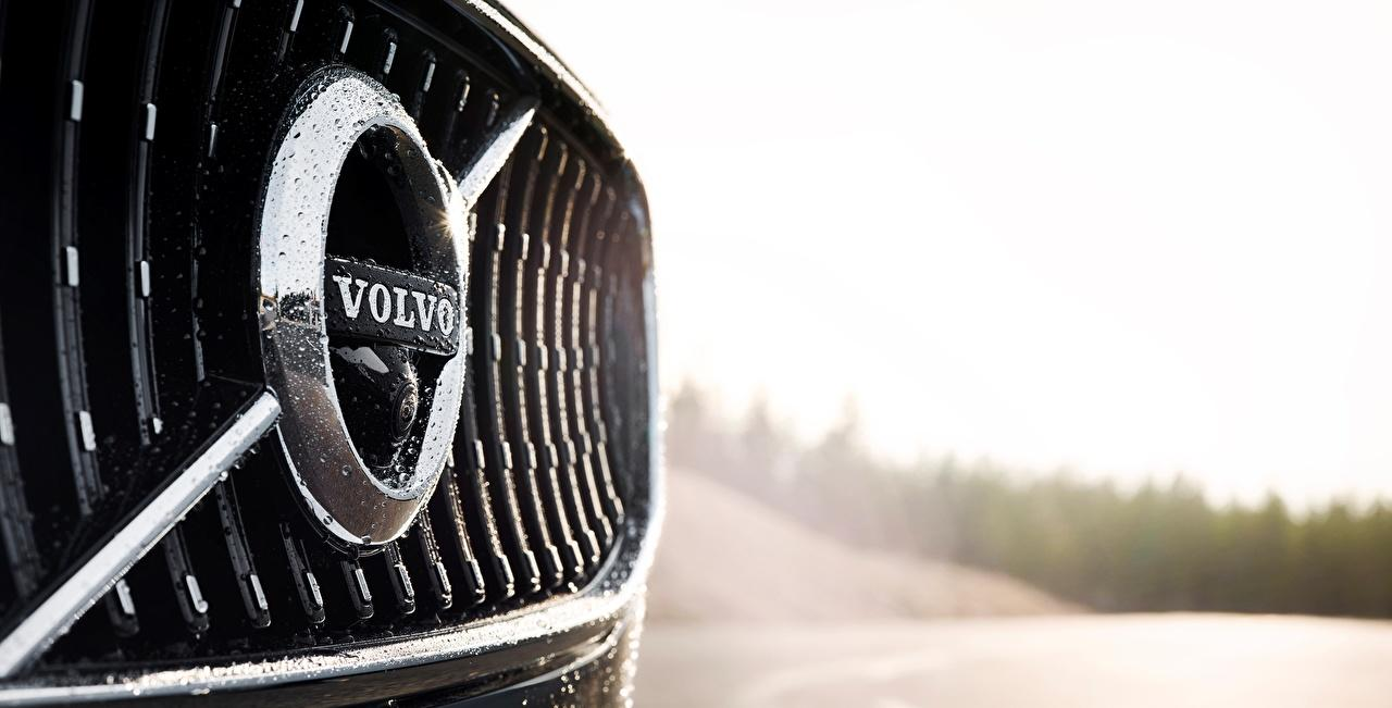 Wallpapers Volvo Logo Emblem V90 Cross Country Cars Closeup