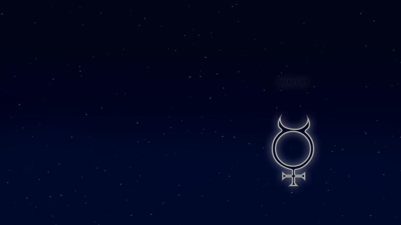 Space image Mercury alchemical symbol HD wallpapers and backgrounds