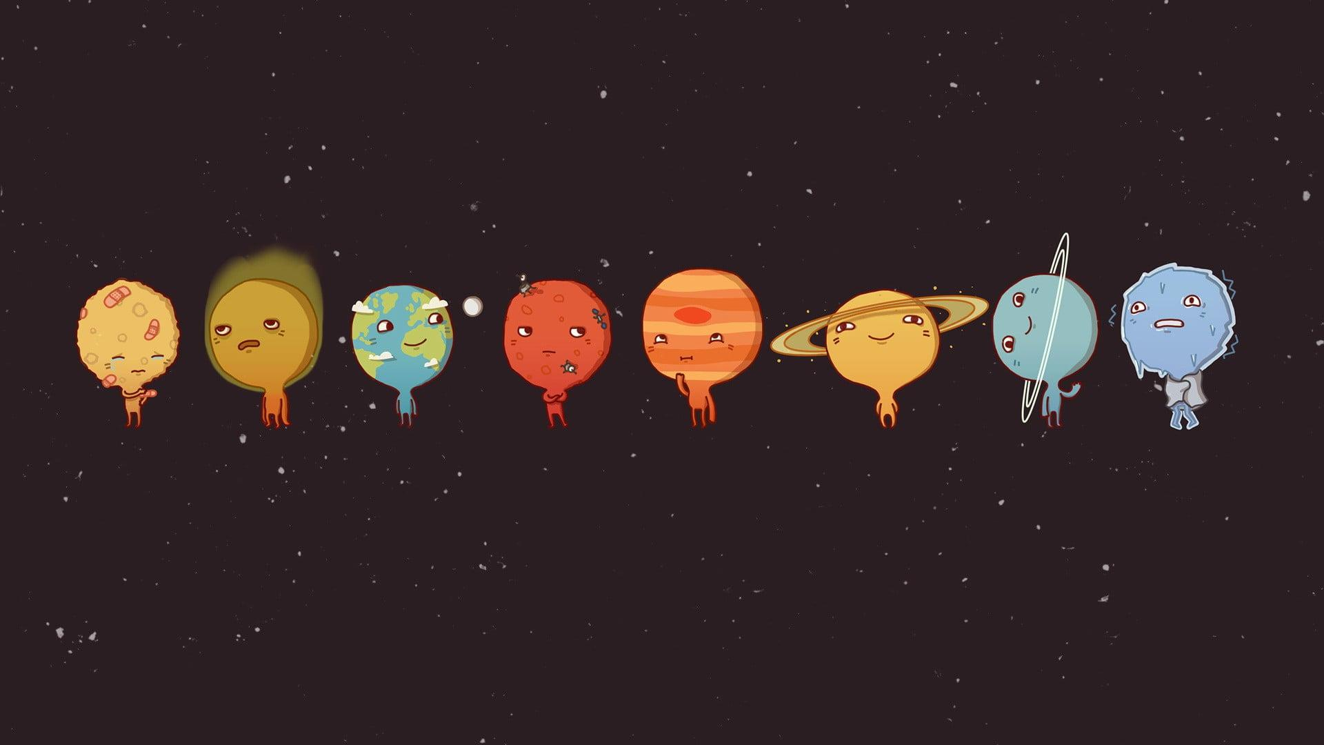 Planets illustration, space, Sun, Venus, Mercury HD wallpapers