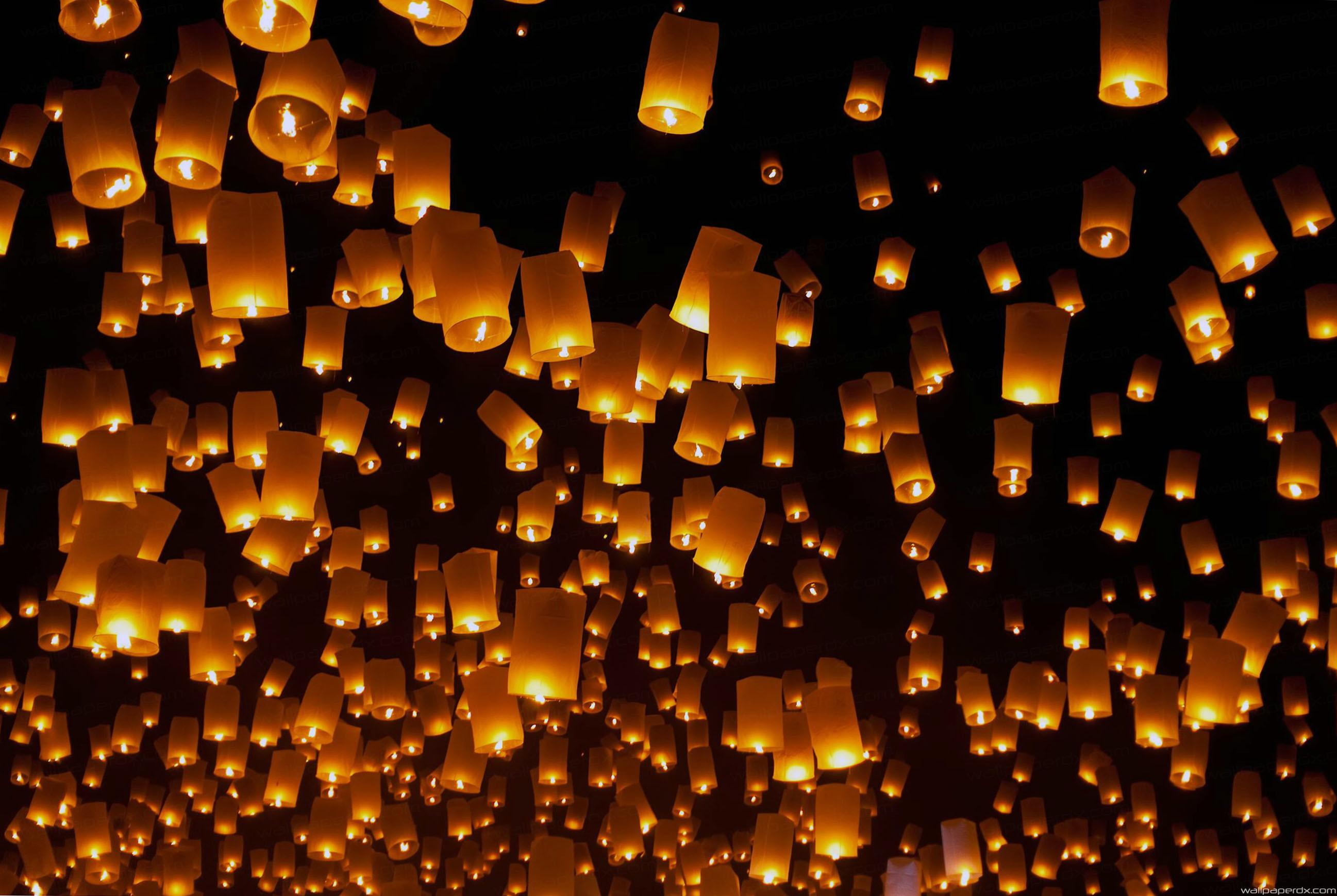 Floating Lanterns Festival Wallpapers Wallpaper Cave