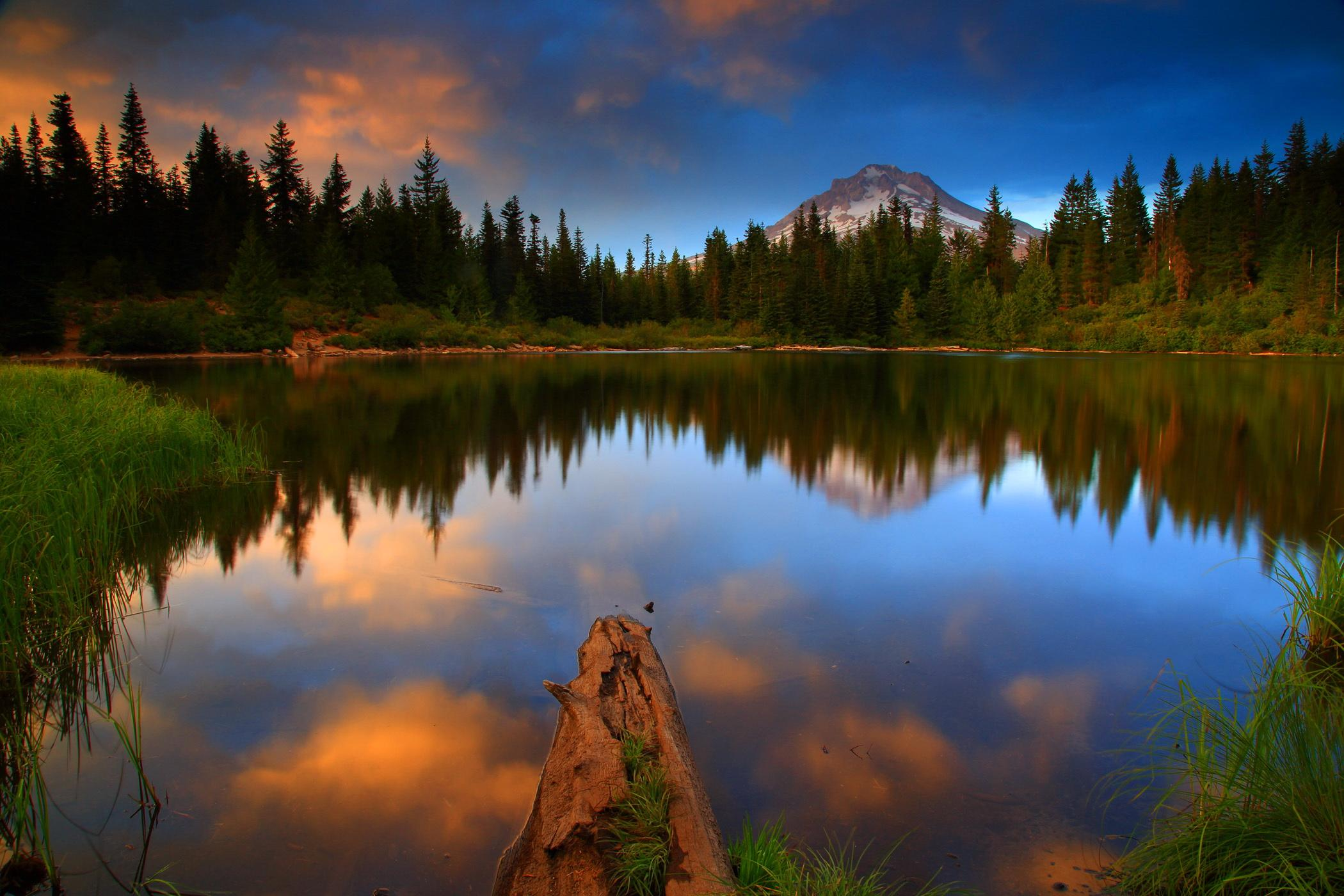 Photos USA Mt Hood National Oregon Nature Lake Forests 2100x1400