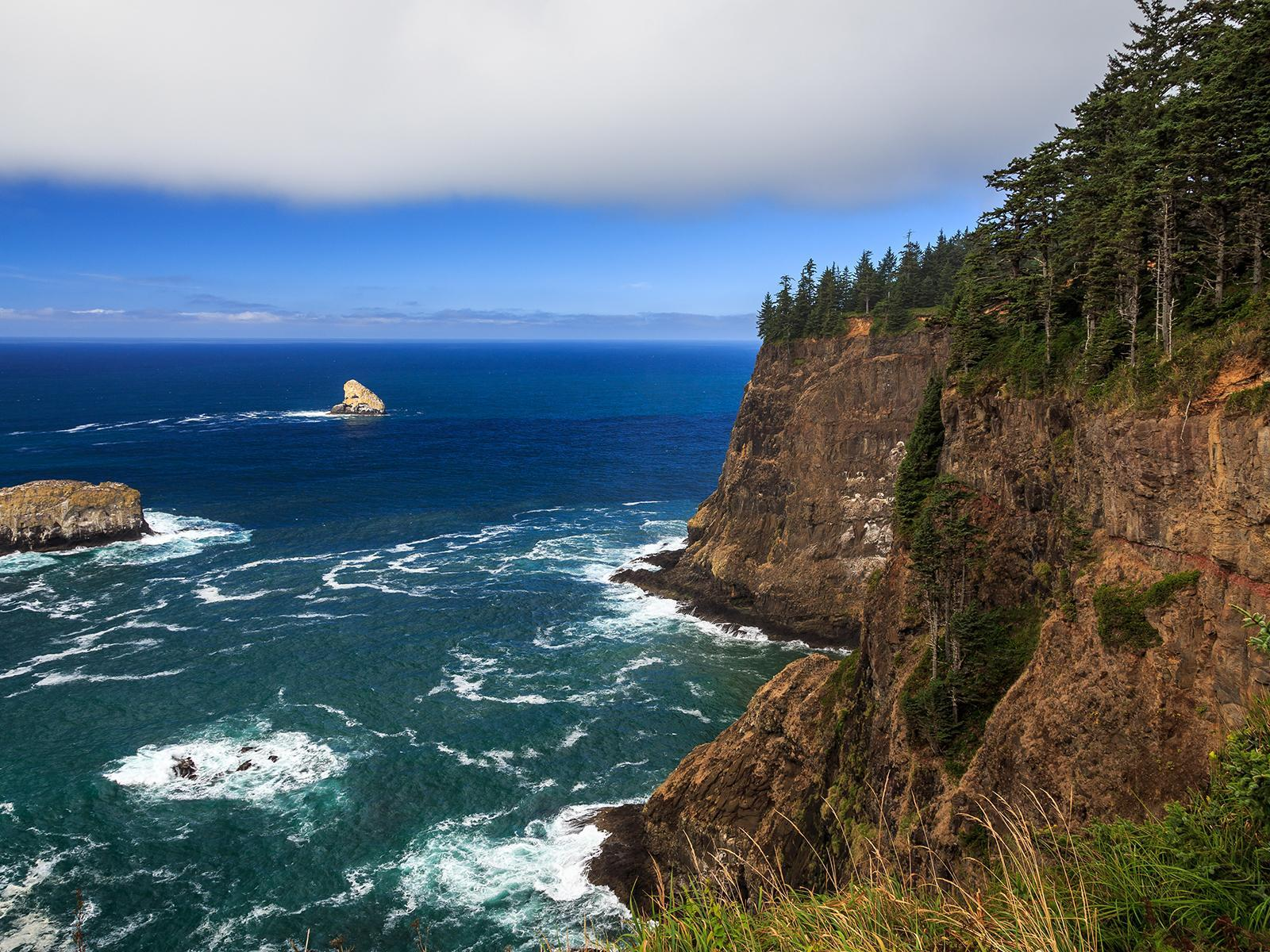 popular, coast, sea, oceans, sea cliffs, wallpaper, nature, Oregon