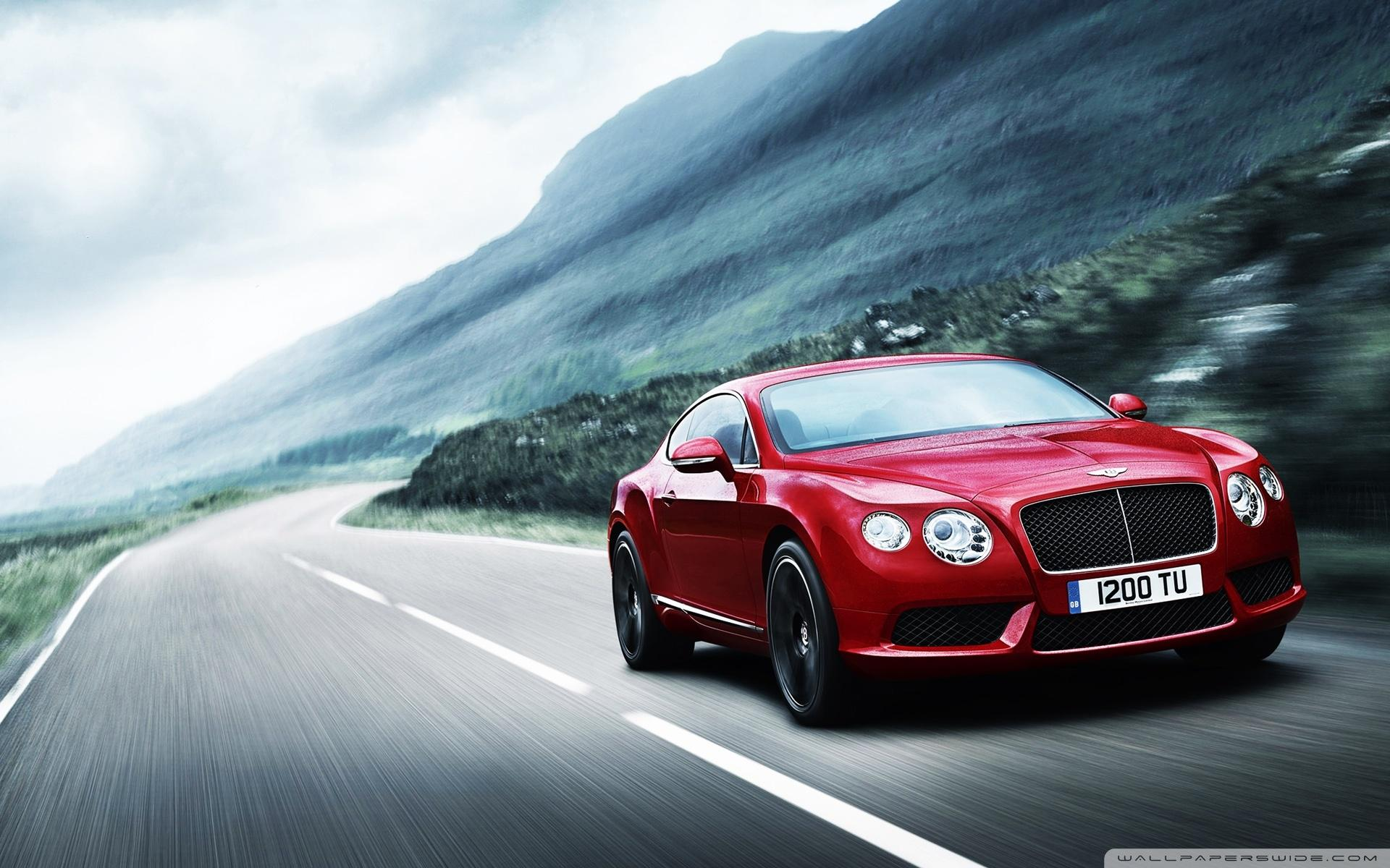 2012 Red Bentley Continental ❤ 4K HD Desktop Wallpapers for 4K Ultra