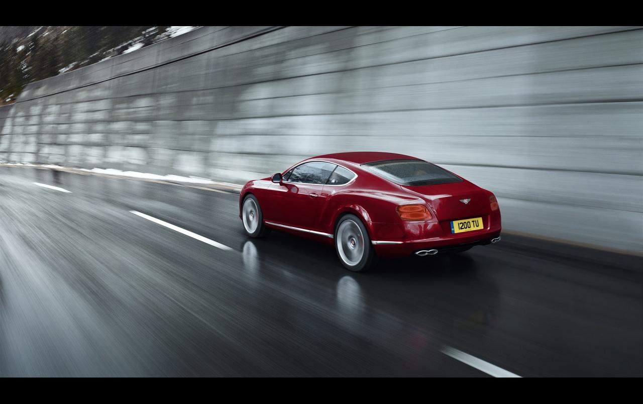 Bentley Continental GT V8 Red Rear wallpapers