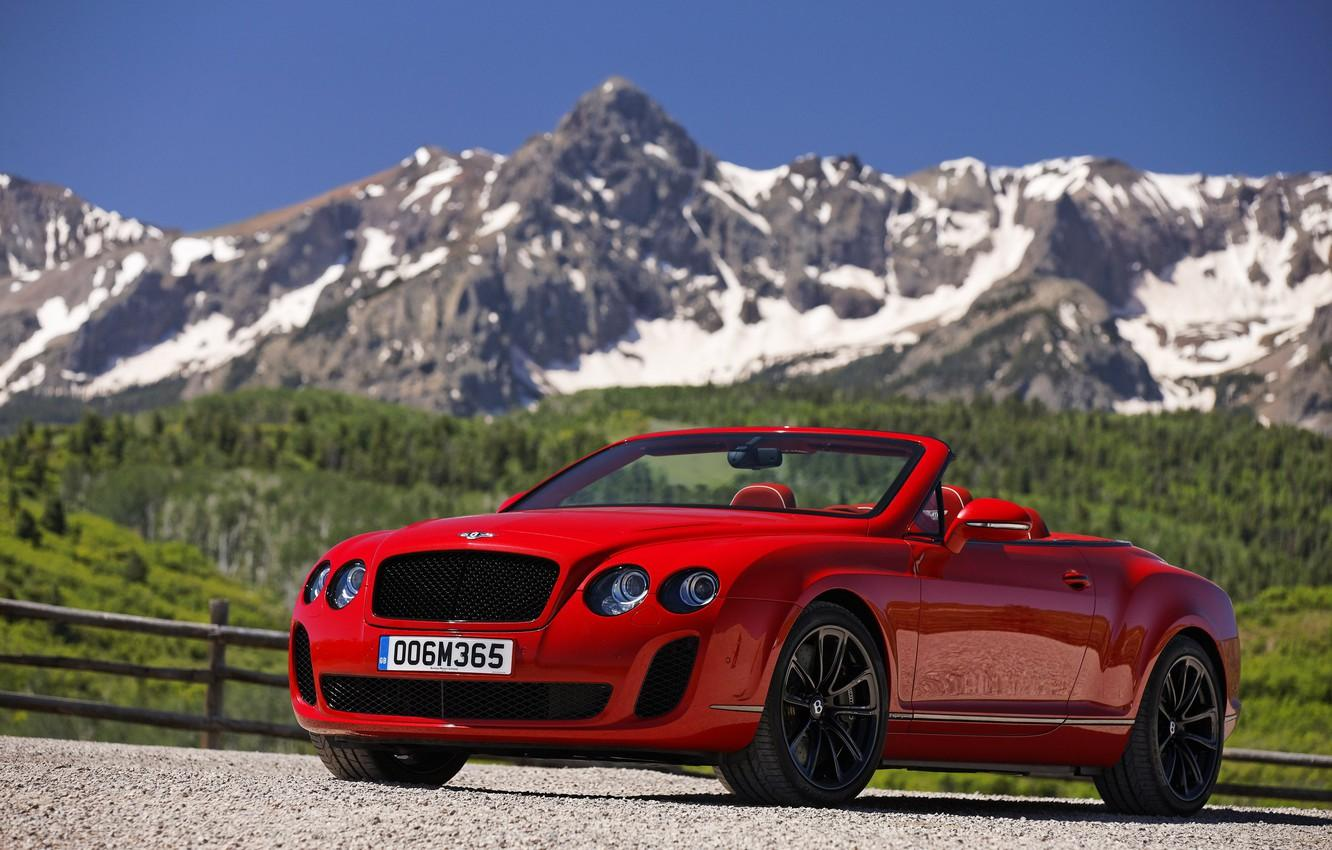 Wallpapers mountains, red, Bentley image for desktop, section