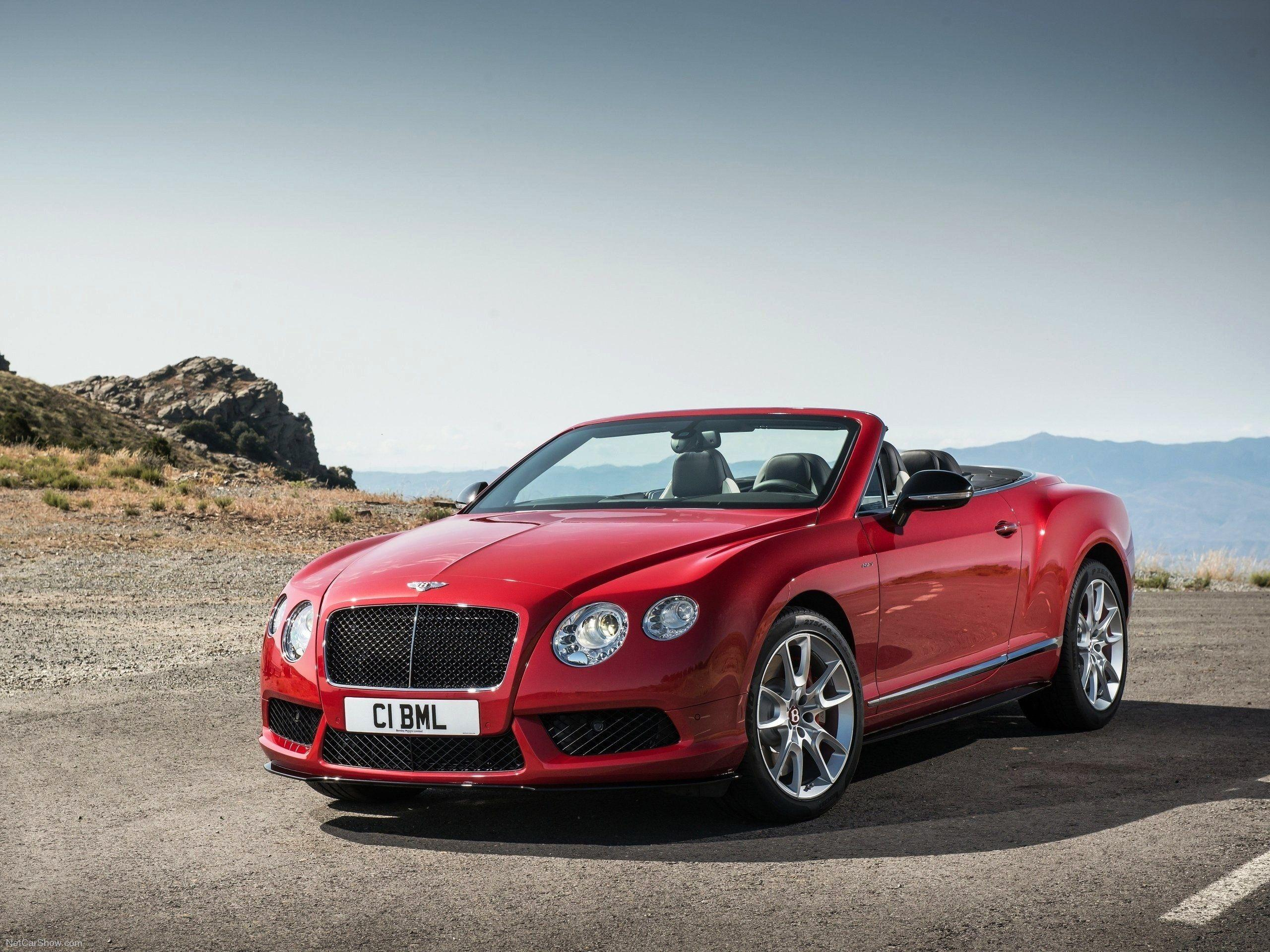 Bentley Continental GT Red Convertible Car Wallpapers