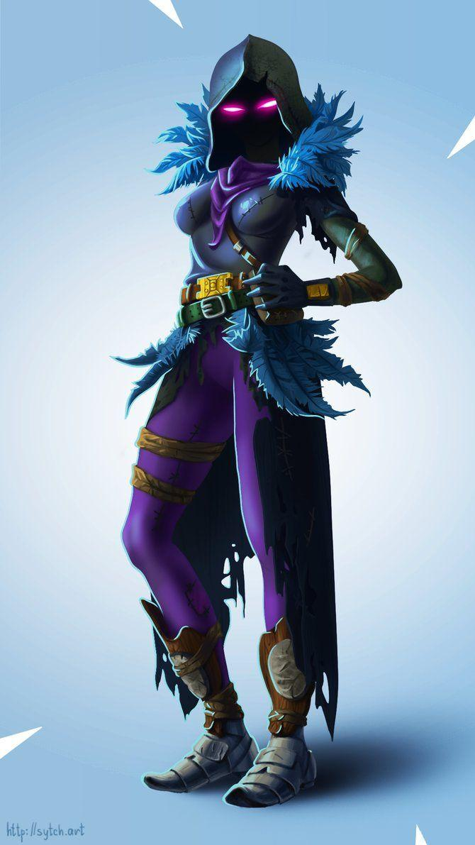RavenGirl by MamotiukA | Fortnite in 2019 | Hd wallpaper, Wallpaper ...