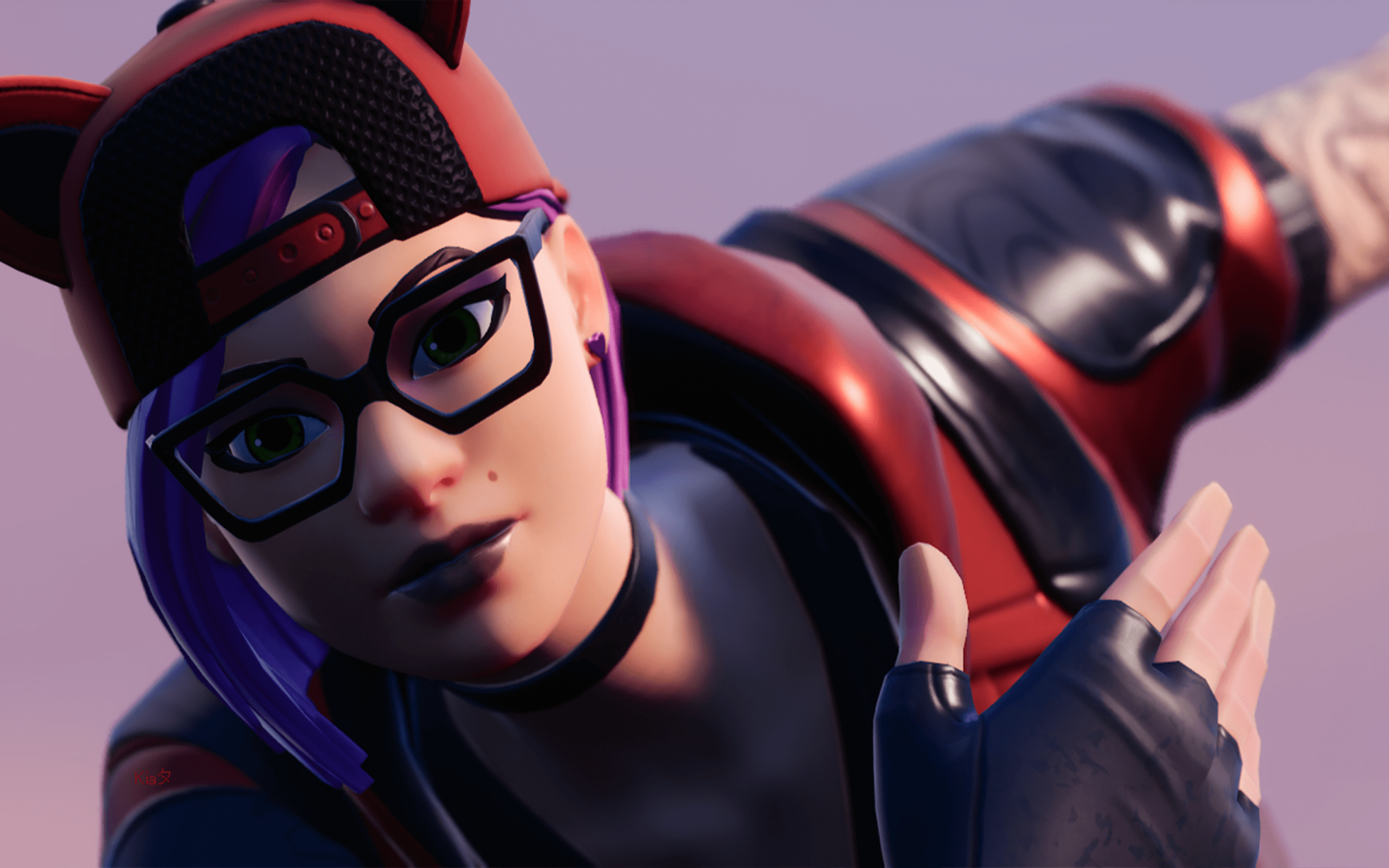 Download 2880x1800 Fortnite, Girl Character, Glasses, Battle Royale ...