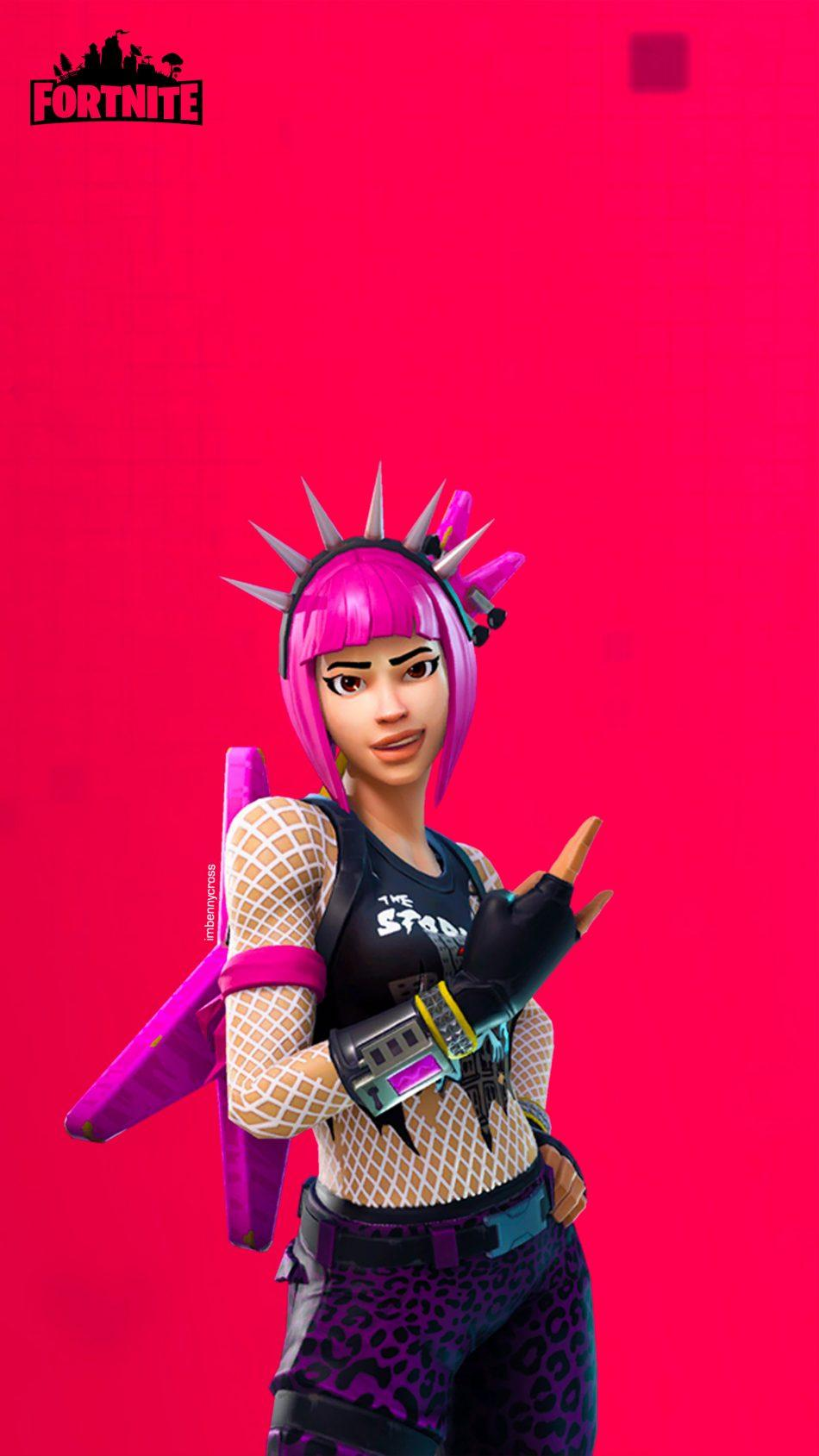 Download Fortnite Punk Girl Free Pure 4K Ultra HD Mobile Wallpaper