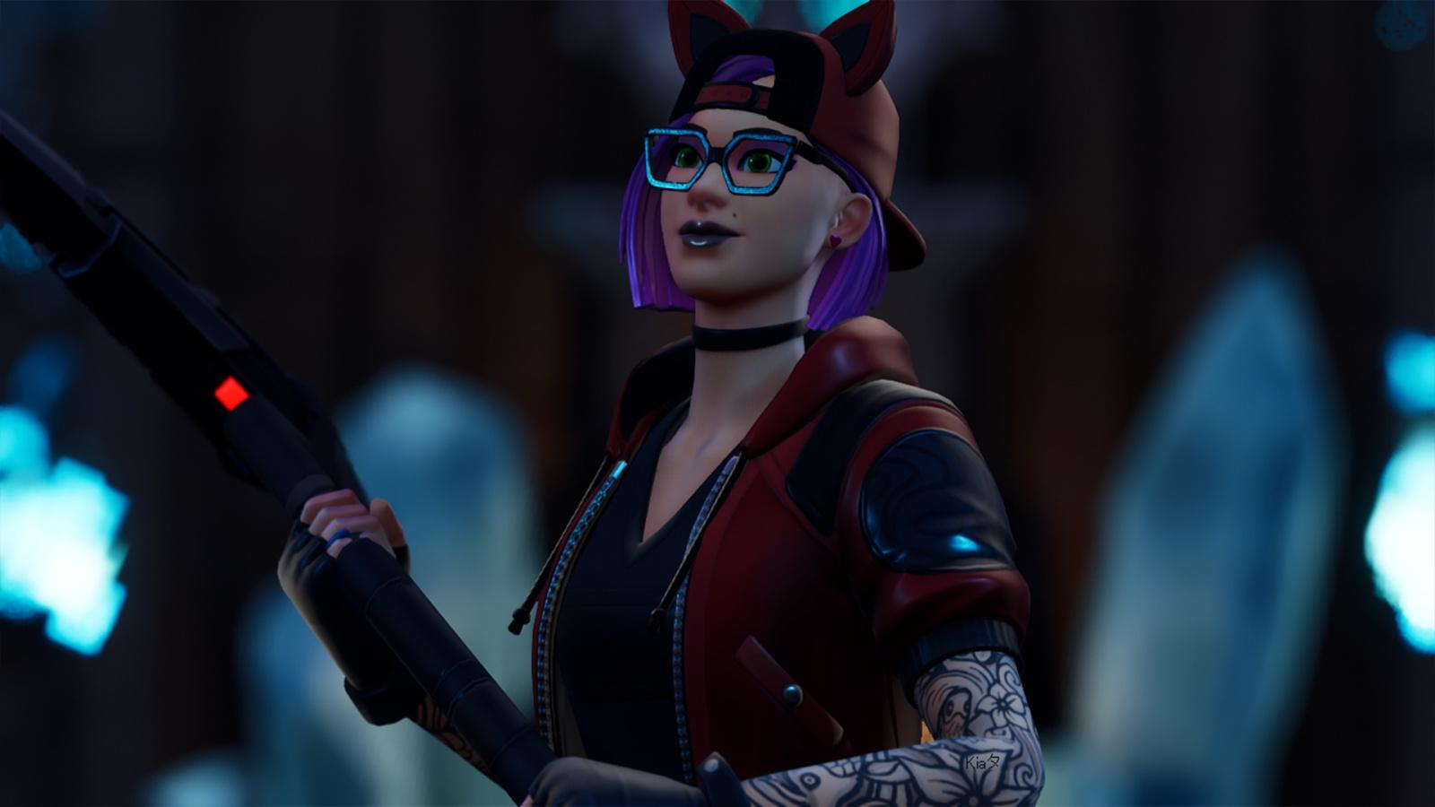 Downaload Glasses, woman skin, urban girl, Fortnite wallpaper ...