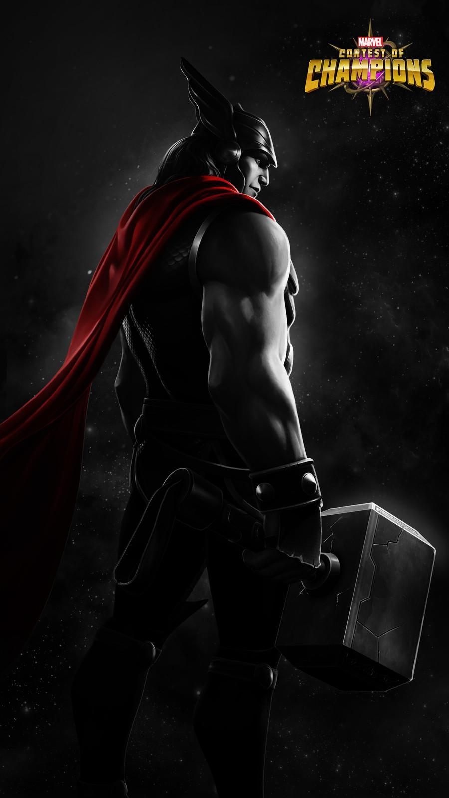 Marvel champions wallpapers wallpaper cave - Thor art wallpaper ...