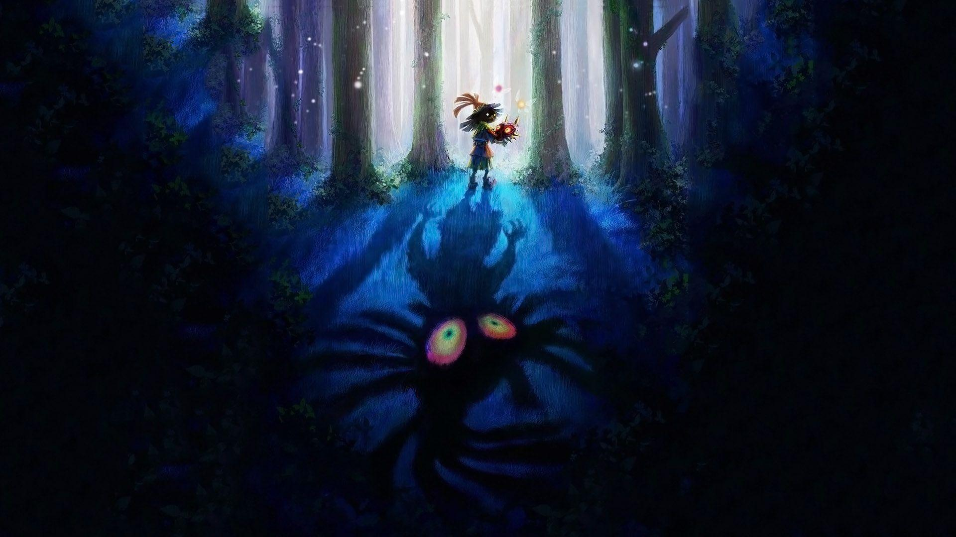 cool majoras mask zelda wallpapers skull kid