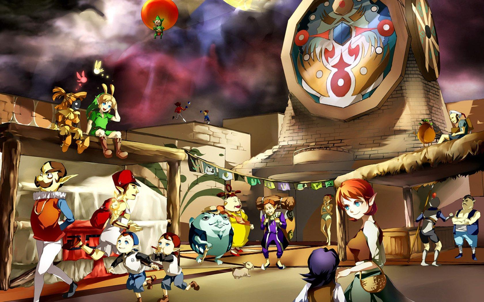 Video games Link The Legend of Zelda: Majoras Mask clocktowers