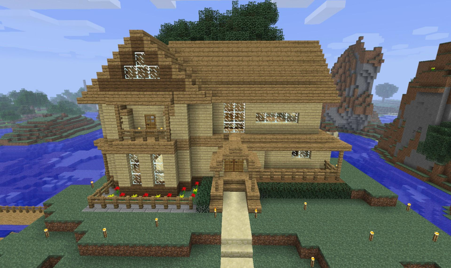 Oak House Design Minecraft Rumah Joglo Limasan Work