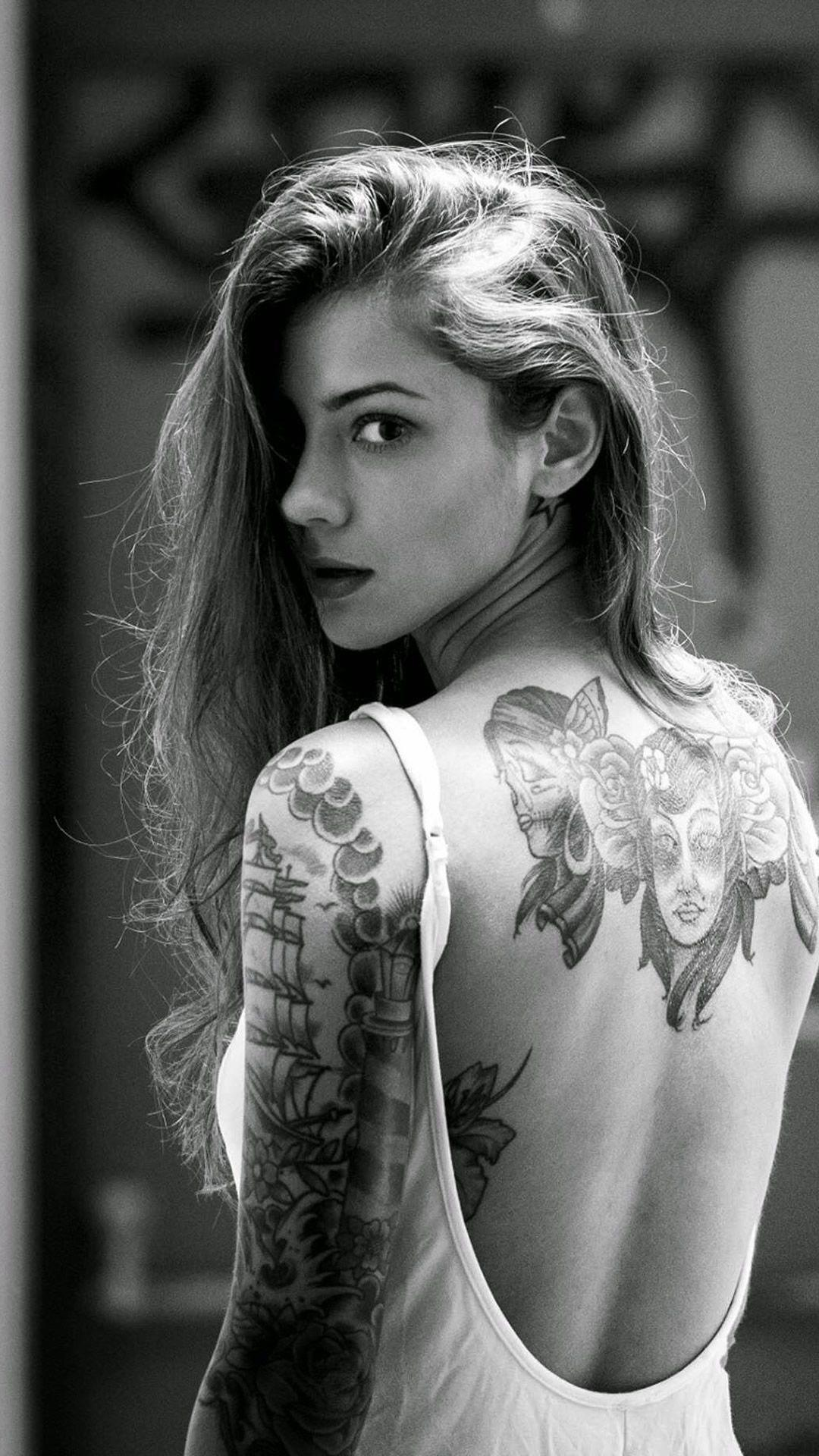 Iphone Tattoo Girl Wallpapers Wallpaper Cave