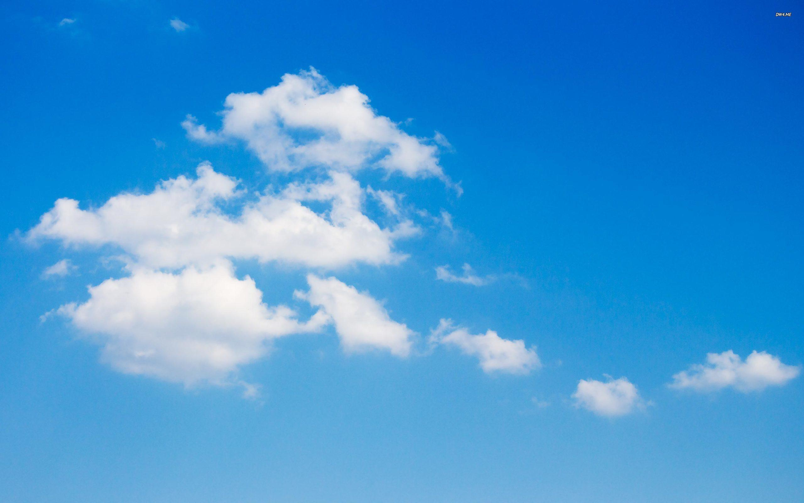 White clouds on the blue sky wallpapers